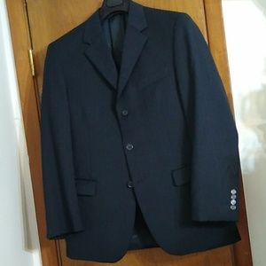 Andrew Fezza Black Suit S & K 40R, 34R Wool